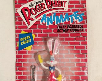 Vintage 1988 Roger Rabbit Action Figure New Old Stock