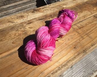 Berry smoothie - 75/25 superwash merino and nylon - sock yarn