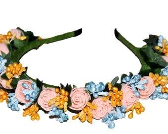 Flower girl green headband