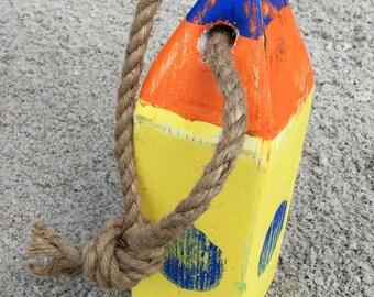 Wooden  lobster buoy, nautical, ocean, party, home decor, beach decor, wedding