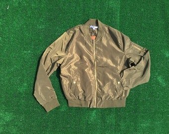 TooFabBoutique olive bomber jacket!