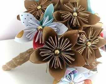 20 Paper Flower Origami Bridal Bouquet