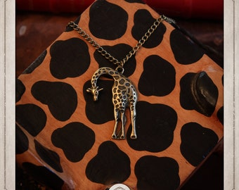 GIRAFFE necklace bronze COP002