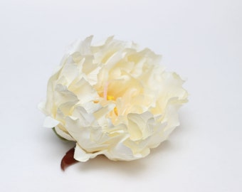 One large ivory peony Artificial flower Fake flower Flower head
