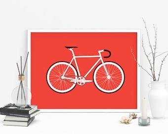 Bike art print / Bike print / cycling prints / bike art / cycling gift / bike gift / Office decor /  wall décor / wall art / Giclée