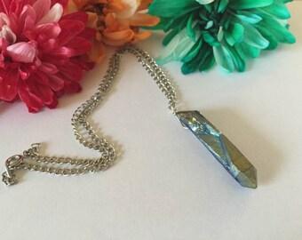 Electric Mermaid Titanium Crystal Quartz Necklace
