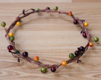Cherrywood flower crown/ hair accessory/ headpiece/ photo prop/ halo/ flower crown