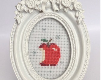 FINISHED cross stitch / Snow White cross stitch / vintage / disney cross stitch / framed art / framed cross stitch / gift / custom made