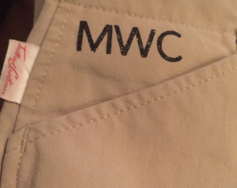 Iron-On Breeches Monogram