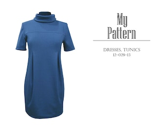 Pattern. Dress with inverted pleats 12-029-13