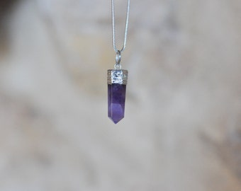 amethyst stone necklace pendant