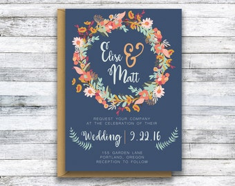 Wedding Invitation / Natalie - Printable Template