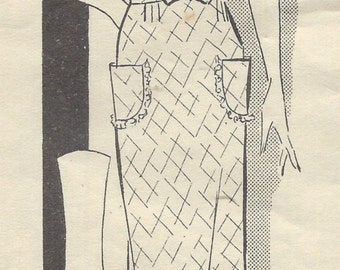 1930s Vintage Sewing Pattern B34 DRESS (1435) By 'ANNE ADAMS' 2662
