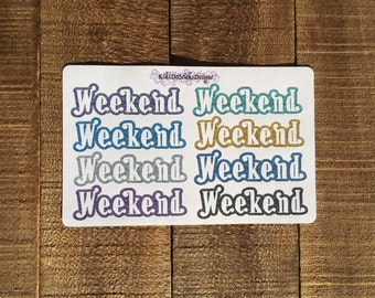 Weekend Glitter Planner Sticker 01
