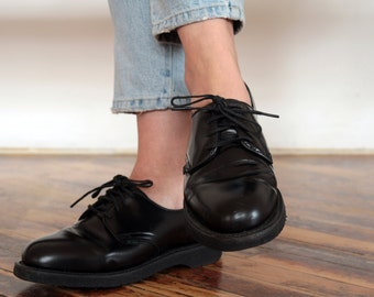 Chunky Black Oxford Shoes