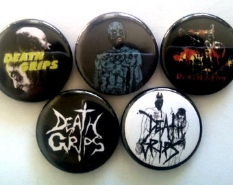 "5 x Death Grips 1"" Pin Button Badges ( ! music )"