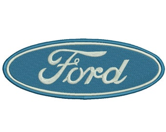 4 sizes Ford Embroidery Design, Ford Logo Embroidery Design, Machine Embroidery Pattern, Instant Download