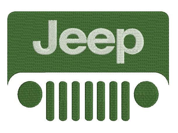 Sizes jeep embroidery design logo machine