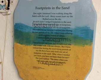 Footprints In the Sand Wooden Wall Art