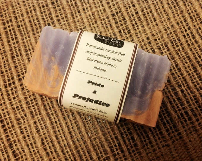 Pride and Prejudice Book Soap- Handmade Soap- Book Soap, Natural Soap, Cold Process Soap, Handcrafted Soap