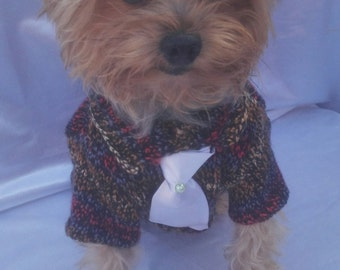 Sweater with tie for pets,sweater with tie for dogs,colorful sweater for pets