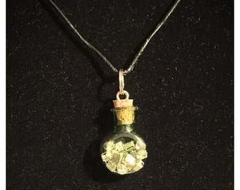 Potion vial necklace/accessory with gems