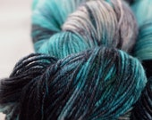 "Dyed on Demand Fingering ""Cerulean Warbler"" Hand Dyed Yarn"