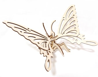 3D Wooden Butterfly Puzzle Toy