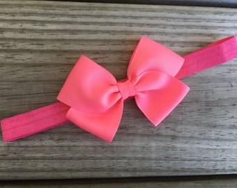 Pink Headband / Pink Bow / Baby Headband / Toddler Headband