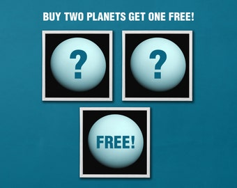 "12"" x 12"" Planet Prints - Buy Two Get One Free"