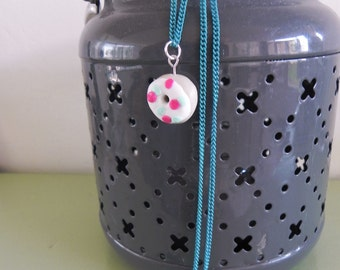Necklace with donut pendant No. 2