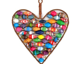 Paper Bead Heart Ornament