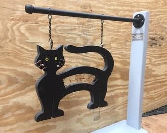Outdoor Welcome Hanging Cat