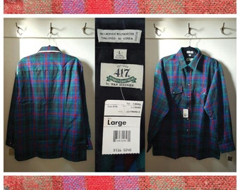 Vintage - 417 Authentic Korean Shirtwear Plaid - Men's Large