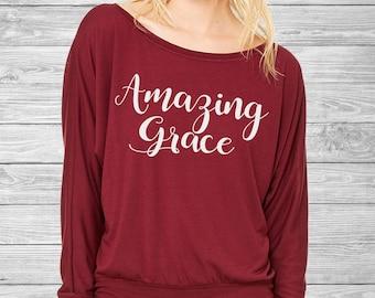 Amazing Grace - Inspirational Long Sleeve Shirt