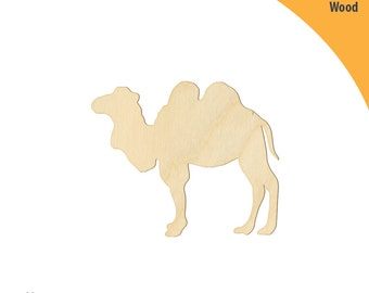 Dromedary Wood Cutout Shape, Laser Cut Wood Shapes, Crafting Shapes, Gifts, Ornaments Dromedary