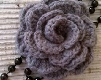 chunky crochet brooch