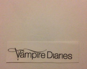 CLEAR The Vampire Diaries sticker