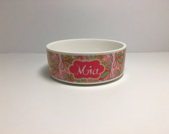 Lilly Pet Bowl | Custom Pet Bowl | Personalized Pet | Cat Bowl | Dog Bowl