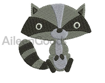 Raccoons Embroidery  design 8 Size  INSTANT download machine embroidery