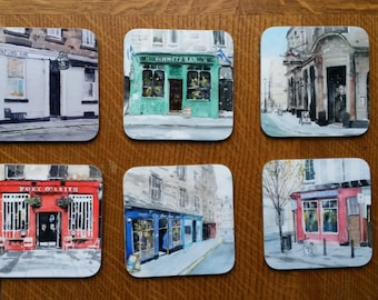 4 High Quality Edinburgh Pub Coasters - choose your favourite Edinburgh bars!