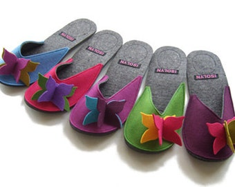 Flutterby Butterfly Slipper by Isolyn. Bright, cheerful and comfy