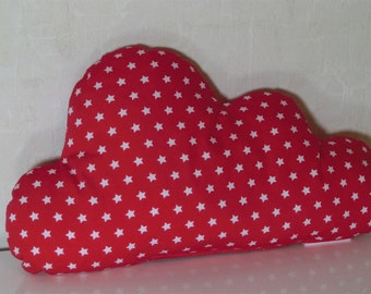 Small cloud pillow in red