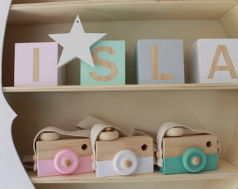 Childrens Wooden Camera- Kids Decor