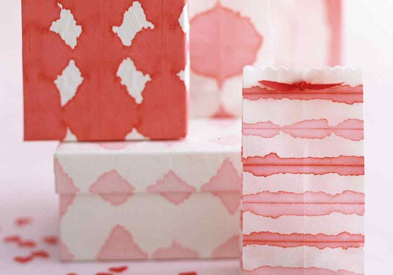 DIY Dip-Dyed Wrapping Paper by Martha Stewart