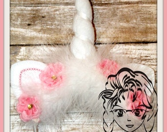 UNICORN HoRN & EaRS ~ (3 Piece) Character Inspired Headband ~ In the Hoop ~ Downloadable DiGiTaL Machine Emb Design by Carrie