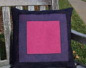 Quilted Pillow Cover, Purple