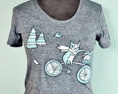 Bike Tshirt Bike T Shirt Bike Art Shirt by boygirlparty - gifts for cyclists, graphic tees for teens, graphic tees for women, boyfriend gift