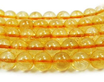 Citrine Round Gemstone Beads