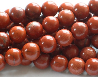 Red Jasper Round Gemstone Beads